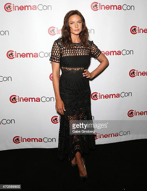 Actress Rebecca Ferguson arrives at The State of the Industry Past Present and Future and Paramount Pictures Presentation at The Colosseum at Caesars...