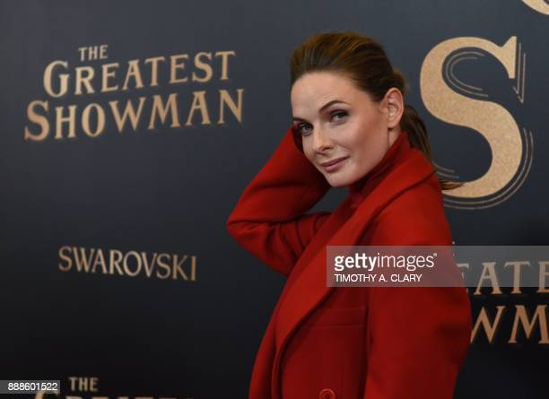 Actress Rebecca Ferguson arrives for the the world premiere of Twentieth Century Fox's The Greatest Showman aboard the Queen Mary 2 for the worlds...