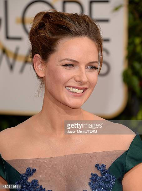 Actress Rebecca Ferguson attends the 71st Annual Golden Globe Awards held at The Beverly Hilton Hotel on January 12 2014 in Beverly Hills California