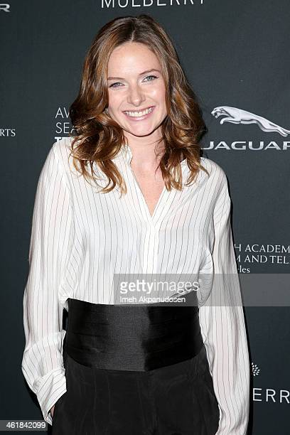 Actress Rebecca Ferguson attends the BAFTA LA 2014 Awards Season Tea Party at the Four Seasons Hotel Los Angeles at Beverly Hills on January 11 2014...