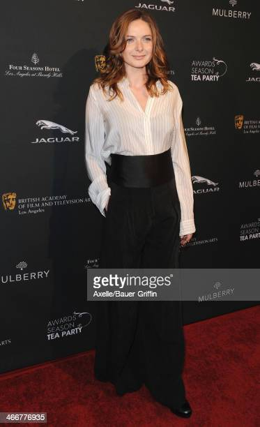 Actress Rebecca Ferguson attends the BAFTA LA 2014 Awards Season Tea Party at Four Seasons Hotel Los Angeles in Beverly Hills on January 11 2014 in...