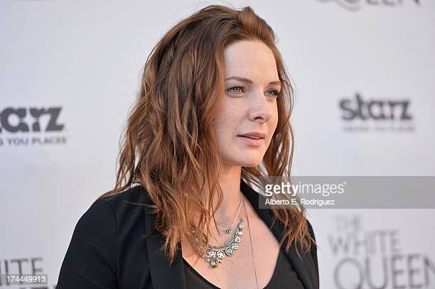 Actress Rebecca Ferguson attends The Brittish Consulate'a toast of the US launch of the Starz original series The White Queen on July 25 2013 in Los...