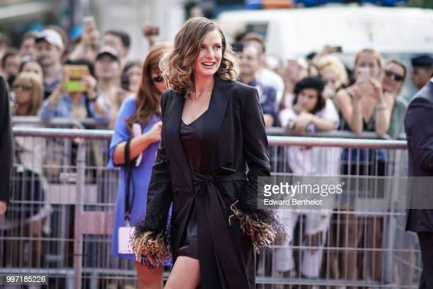 Actress Rebecca Ferguson attends the Global Premiere of 'Mission Impossible Fallout' at Palais de Chaillot on July 12 2018 in Paris France