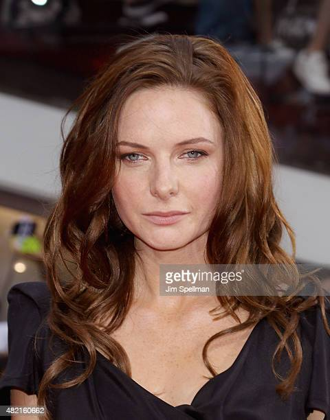 Actress Rebecca Ferguson attends the Mission Impossible Rogue Nation New York premiere at Times Square on July 27 2015 in New York City