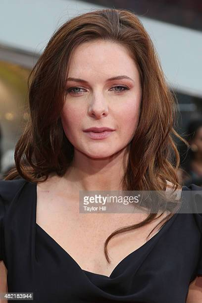 Actress Rebecca Ferguson attends the Mission Impossible Rogue Nation premiere at Duffy Square in Times Square on July 27 2015 in New York City
