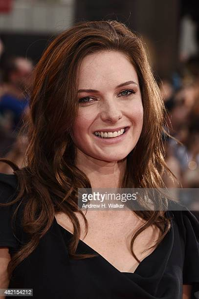 Actress Rebecca Ferguson attends the New York premiere of Mission Impossible Rogue Nation at Duffy Square in Times Square on July 27 2015 in New York...