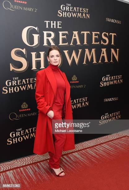 Actress Rebecca Ferguson attends the The Greatest Showman World Premiere aboard the Queen Mary 2 at the Brooklyn Cruise Terminal on December 8 2017...