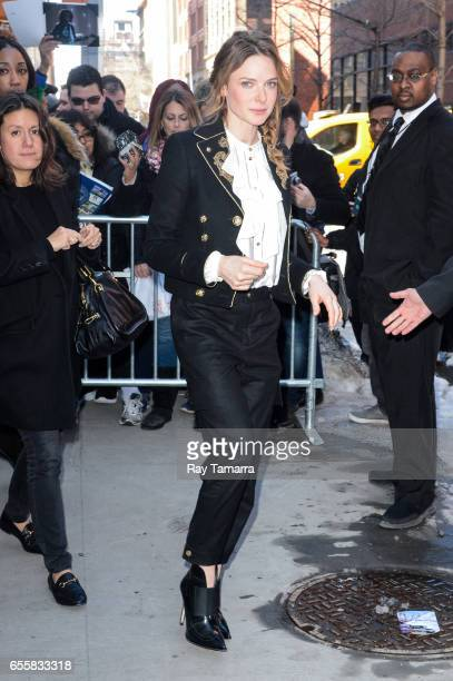 Actress Rebecca Ferguson leaves the 'AOL Build' taping at the AOL Studios on March 20 2017 in New York City