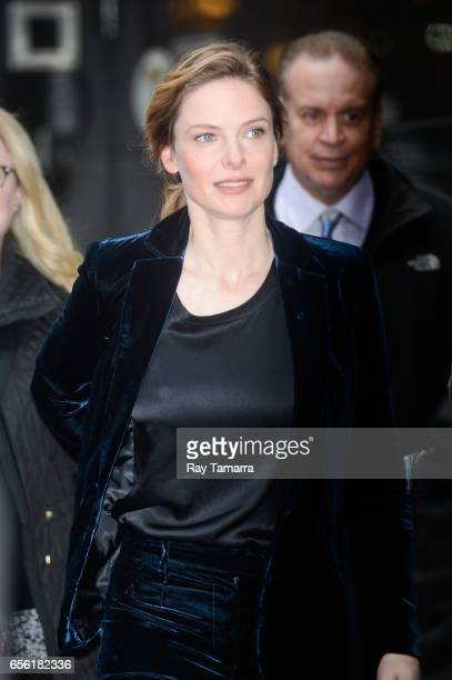 Actress Rebecca Ferguson leaves the Good Morning America taping at the ABC Times Square Studios on March 21 2017 in New York City