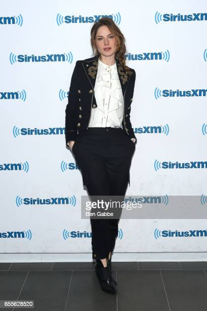 Actress Rebecca Ferguson visits at SiriusXM Studios on March 20 2017 in New York City
