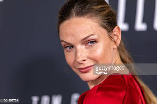 Actress Rebecca Ferguson who plays quotIIsa Faustquot in Mission Impossible Fallout walks the red carpet of the US premiere at the Smithsonian...