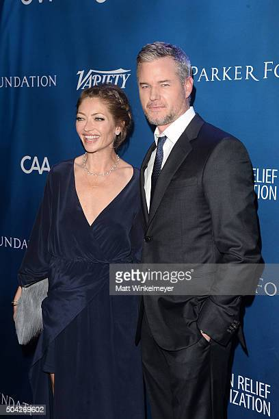 Actress Rebecca Gayheart and actor Eric Dane arrive at the 5th Annual Sean Penn Friends HELP HAITI HOME Gala benefiting J/P Haitian Relief...