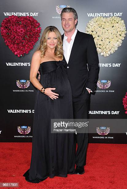 """Actress Rebecca Gayheart and actor Eric Dane arrive at the premiere of New Line Cinema's """"Valentine's Day"""" held at Grauman�s Chinese Theatre on..."""