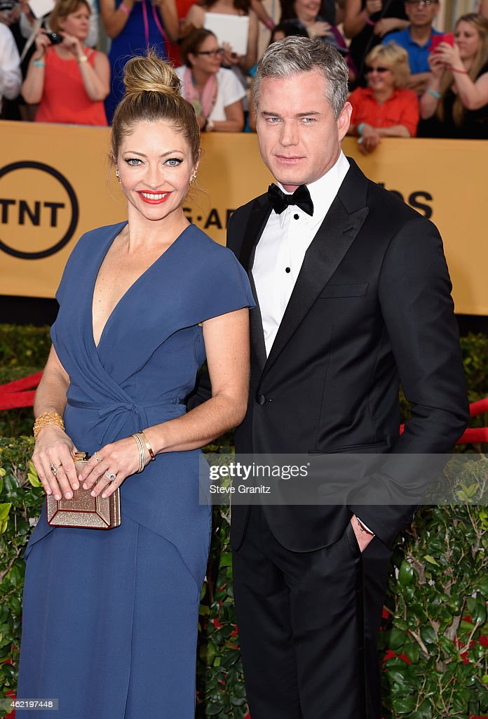 Actress Rebecca Gayheart (L) and actor Eric Dane attend the 21st Annual Screen Actors Guild Awards at The Shrine Auditorium on January 25, 2015 in Los Angeles, California.