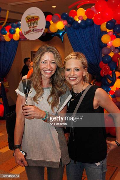 Actress Rebecca Gayheart and actress Sarah Michelle Gellar attend Celebrity Party with Disney Junior Live On Tour Pirate Princess Adventure Hollywood...
