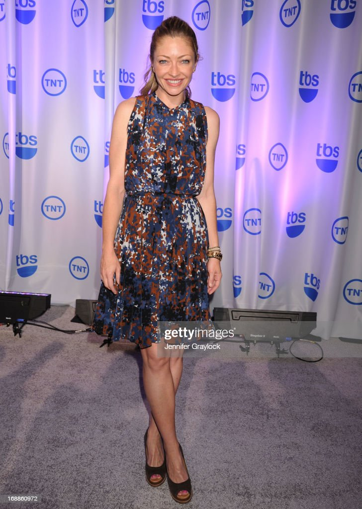 Actress Rebecca Gayheart attends the 2013 TNT/TBS Upfront presentation at Hammerstein Ballroom on May 15, 2013 in New York City.