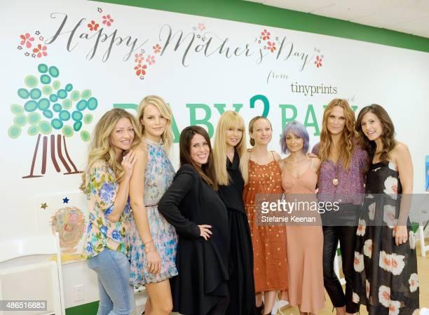 Actress Rebecca Gayheart, Baby2Baby Co-president Kelly Sawyer, actress Soleil Moon Frye, stylist Rachel Zoe, jewelry designer Jen Meyer, actress...