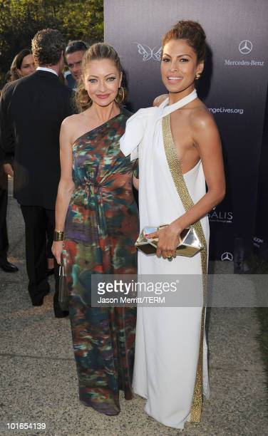 Actress Rebecca GayheartDane and actress Eva Mendes attend the 9th Annual Butterfly Ball on June 5 2010 in Los Angeles California