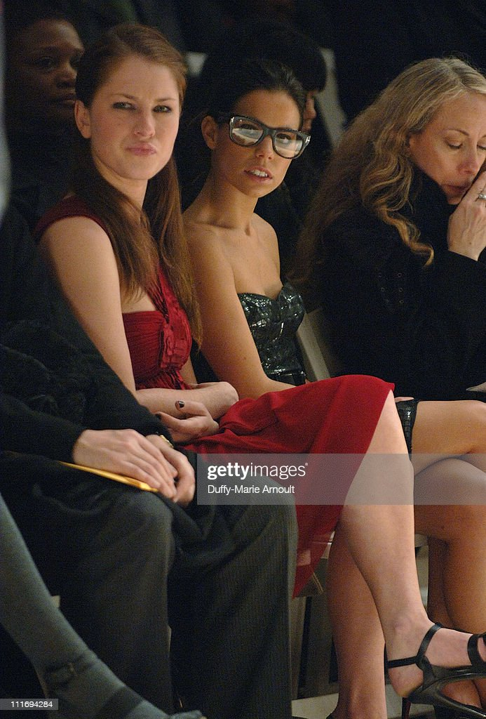 Actress Rebecca Gerroll and Ally Hilfiger attend Vivienne Tam Fall 2008 during Mercedes-Benz Fashion Week at The Promenade, Bryant Park on February 5, 2008 in New York City.