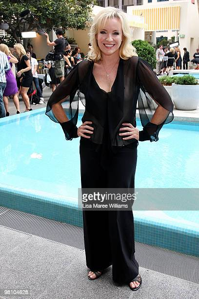 Actress Rebecca Gibney poses during the nominations announcement for the 52nd TV Week Logie Awards at The Ivy on March 29 2010 in Sydney Australia