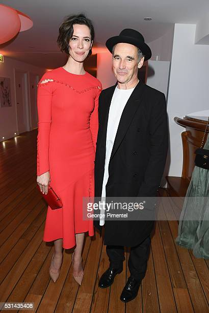 Actress Rebecca Hall and actor Mark Rylance attend Vanity Fair and Chopard AfterParty Celebrating the Cannes Film Festival at Hotel du CapEdenRoc on...