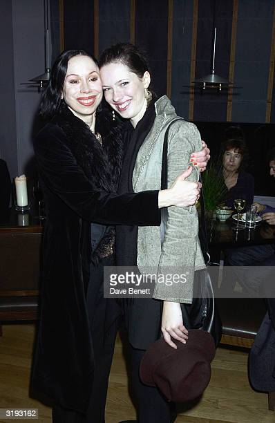 Actress Rebecca Hall and her mother Maria Ewing attend the first night afterparty for 'Mrs Warrens Profession' on October 10th 2002 at Dial...