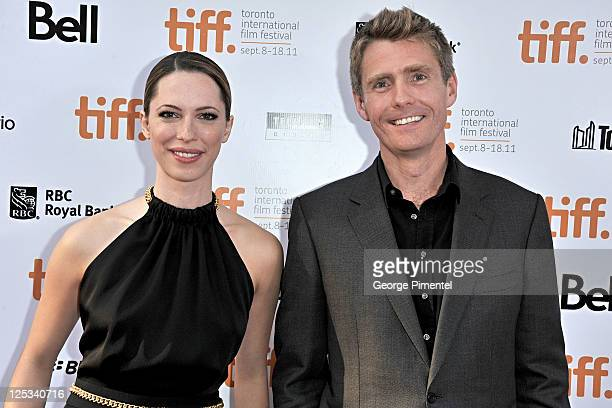 Actress Rebecca Hall and writer/Director Nick Murphy arrive at the 'The Awakening' Premiere during the 2011 Toronto International Film Festival held...
