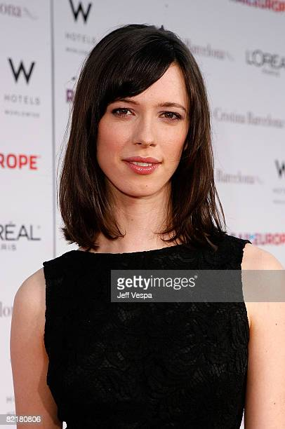 Actress Rebecca Hall arrives on the red carpet at the Los Angeles Premiere of Vicky Cristina Barcelona at the Mann Village Theatre on August 4 2008...