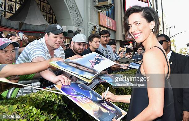 Actress Rebecca Hall arrives on the red carpet for the US premiere of Disney's The BFG directed and produced by Steven Spielberg A giant sized crowd...