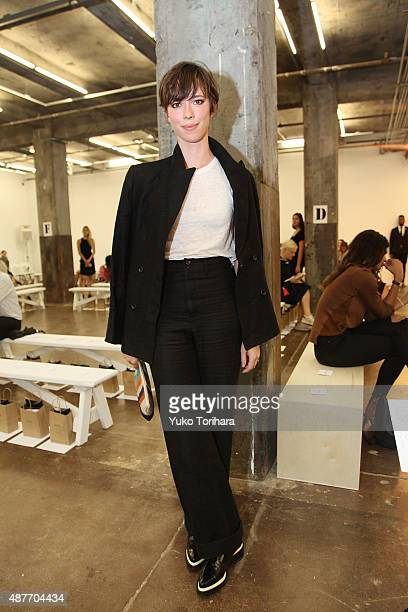 Actress Rebecca Hall at the Creatures of Comfort fashion show during the Spring 2016 New York Fashion Week at Maccarone Gallery on September 10 2015...
