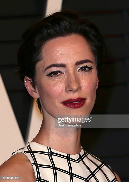 Actress Rebecca Hall attends the 2015 Vanity Fair Oscar Party hosted by Graydon Carter at the Wallis Annenberg Center for the Performing Arts on...
