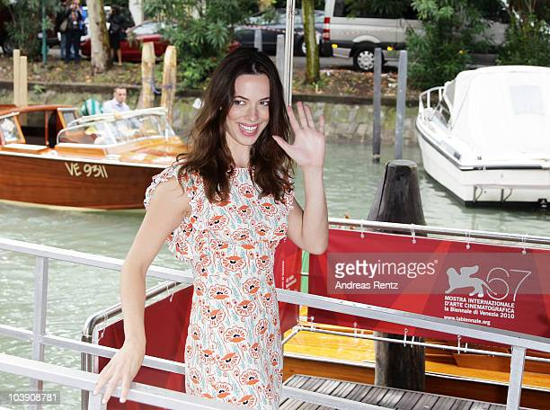 Actress Rebecca Hall attends the 67th Venice Film Festival on September 8 2010 in Venice Italy