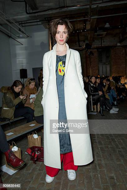 Actress Rebecca Hall attends the Creatures of Comfort fashion show at the Fall 2016 New York Fashion Week New York on February 11 2016 in New York...