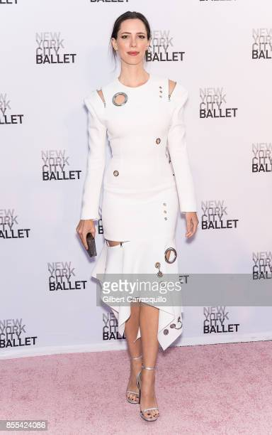 Actress Rebecca Hall attends the New York City Ballet's 2017 Fall Fashion Gala at David H Koch Theater at Lincoln Center on September 28 2017 in New...