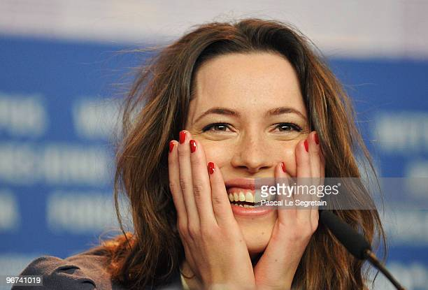Actress Rebecca Hall attends the 'Please Give' Press Conference during day six of the 60th Berlin International Film Festival at the Grand Hyatt...