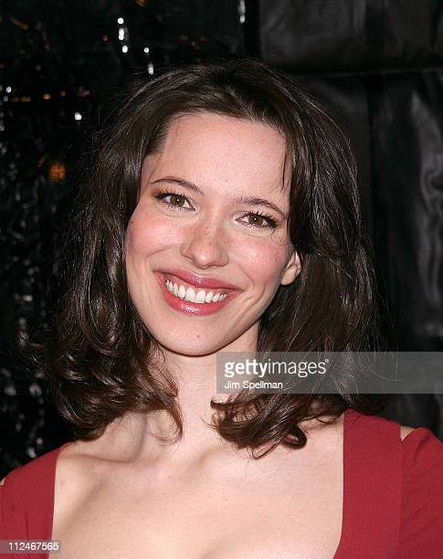 Actress Rebecca Hall attends the premiere of 'Frost/Nixon' at the Ziegfeld Theater on November 17 2008 in New York City