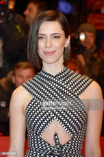 Actress Rebecca Hall attends the 'The Dinner' premiere during the 67th Berlinale International Film Festival Berlin at Berlinale Palace on February...