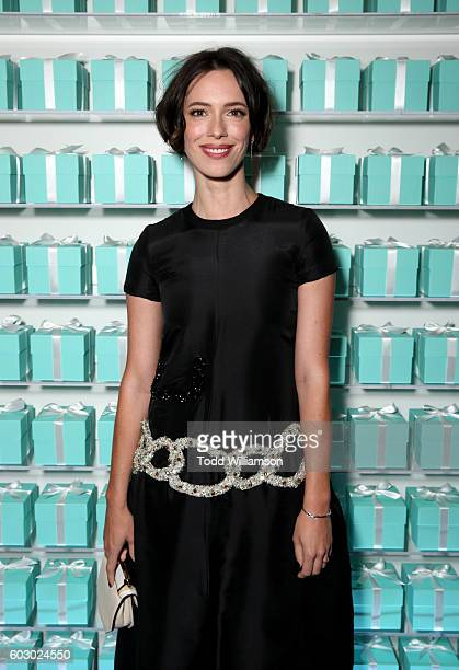 Actress Rebecca Hall attends the Vanity Fair and Tiffany Co private dinner toasting Lupita Nyong'o and celebrating Legendary Style at ShangriLa Hotel...