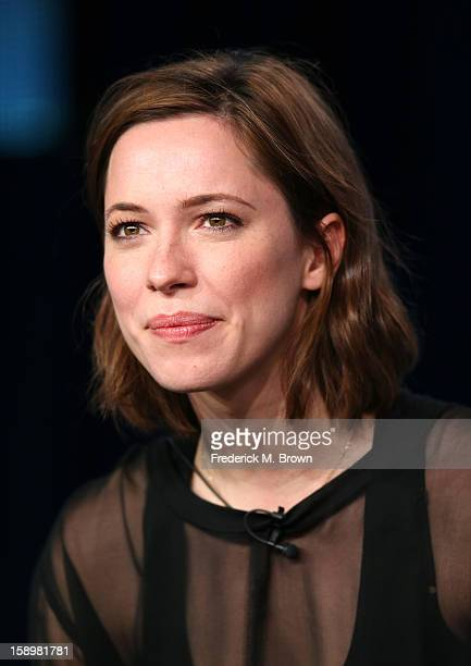"""Actress Rebecca Hall speaks onstage during the """"Parade's End"""" panel discussion at the HBO portion of the 2013 Winter TCA Tourduring 2013 Winter TCA..."""