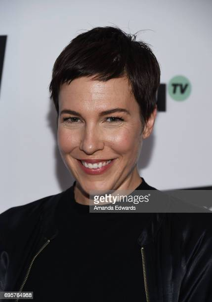 Actress Rebecca Henderson arrives at the premiere of truTV's 'I'm Sorry' at the SilverScreen Theater at the Pacific Design Center on June 13 2017 in...