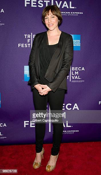 Actress Rebecca Henderson attends the 'Meskada' premiere at the 9th Annual Tribeca Film Festival at Village East Cinema on April 22 2010 in New York...