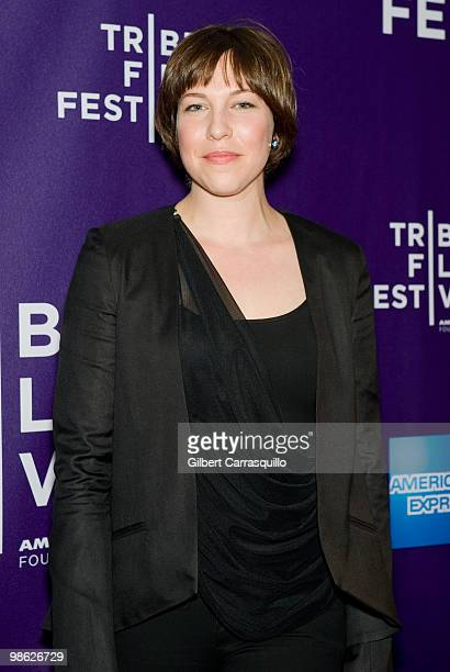 """Actress Rebecca Henderson attends the """"Meskada"""" premiere at the 9th Annual Tribeca Film Festival at Village East Cinema on April 22, 2010 in New York..."""