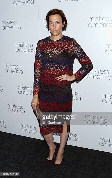 Actress Rebecca Henderson attends the 'Mistress America' New York premiere at Landmark Sunshine Cinema on August 12 2015 in New York City