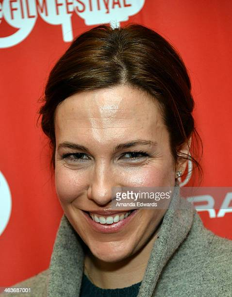 """Actress Rebecca Henderson attends the premiere of """"Appropriate Behavior"""" at the Yarrow Hotel Theater during the 2014 Sundance Film Festival on..."""