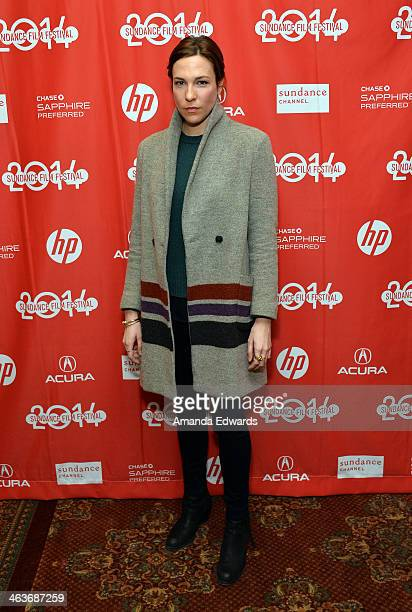 Actress Rebecca Henderson attends the premiere of 'Appropriate Behavior' at the Yarrow Hotel Theater during the 2014 Sundance Film Festival on...