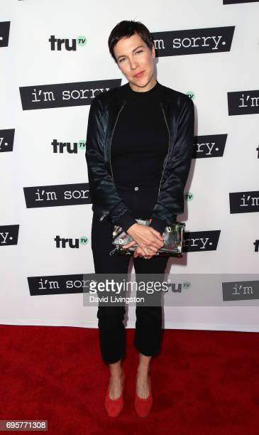 Actress Rebecca Henderson attends the premiere of truTV's 'I'm Sorry' at SilverScreen Theater at the Pacific Design Center on June 13 2017 in West...