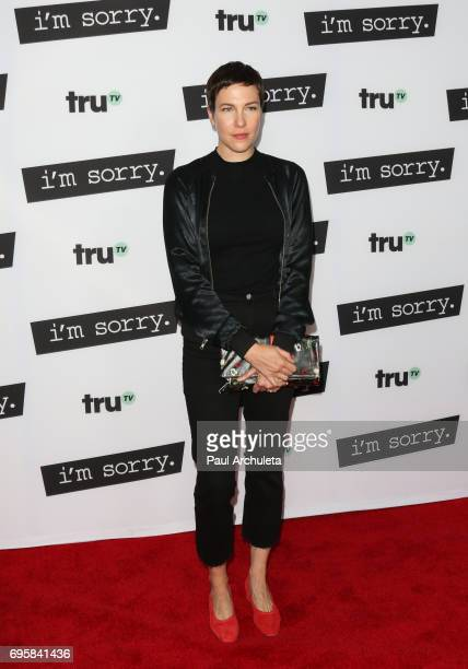 Actress Rebecca Henderson attends the premiere of truTV's 'I'm Sorry' at The SilverScreen Theater at the Pacific Design Center on June 13 2017 in...