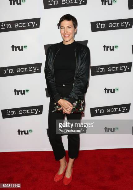 """Actress Rebecca Henderson attends the premiere of truTV's """"I'm Sorry"""" at The SilverScreen Theater at the Pacific Design Center on June 13, 2017 in..."""