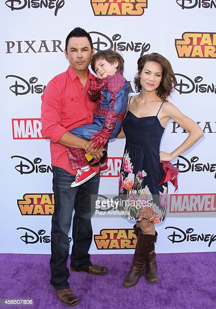 Actress Rebecca Herbst attends Disney's VIP Halloween event at Disney Consumer Products Campus on October 1, 2014 in Glendale, California.