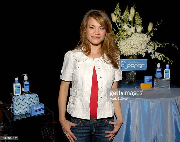 Actress Rebecca Herbst in Backstage Creations at the 2008 Academy of Country Music Awards held on May 18 2008 in Las Vegas Nevada